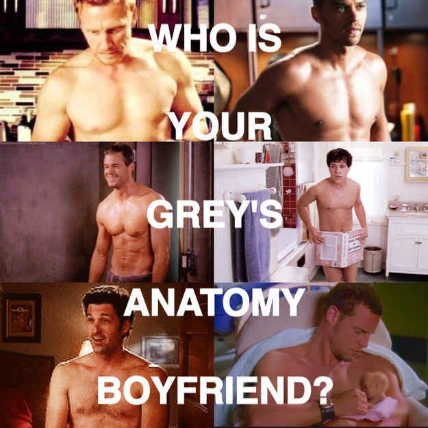 "Who Is Your ""Grey's Anatomy"" Boyfriend. You got: Dr. Jackson Avery Jackson is fun-loving, caring, and always there for people when they're in need. He's also extremely handsome, and his eyes are beautiful. You've got yourself a keeper."