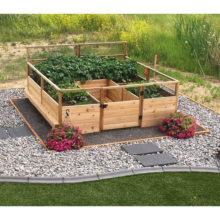Outdoor Living Today 8 ft x 8 ft Cedar Raised Garden Bed
