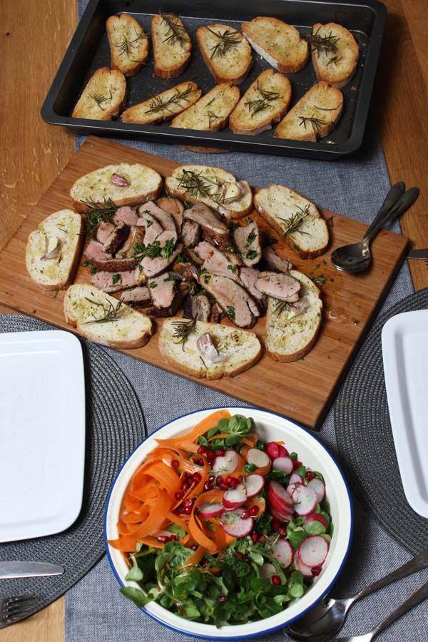 Jamie Oliver 30 Minuten Menü Ente Und Salat Mit Riesencroutons