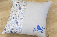 第100回 コトリ刺繍のクッションカバー|スタディオクリップ・手作り雑貨の作り方