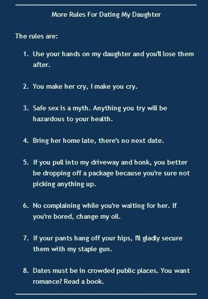 50 rules for dating my daughter