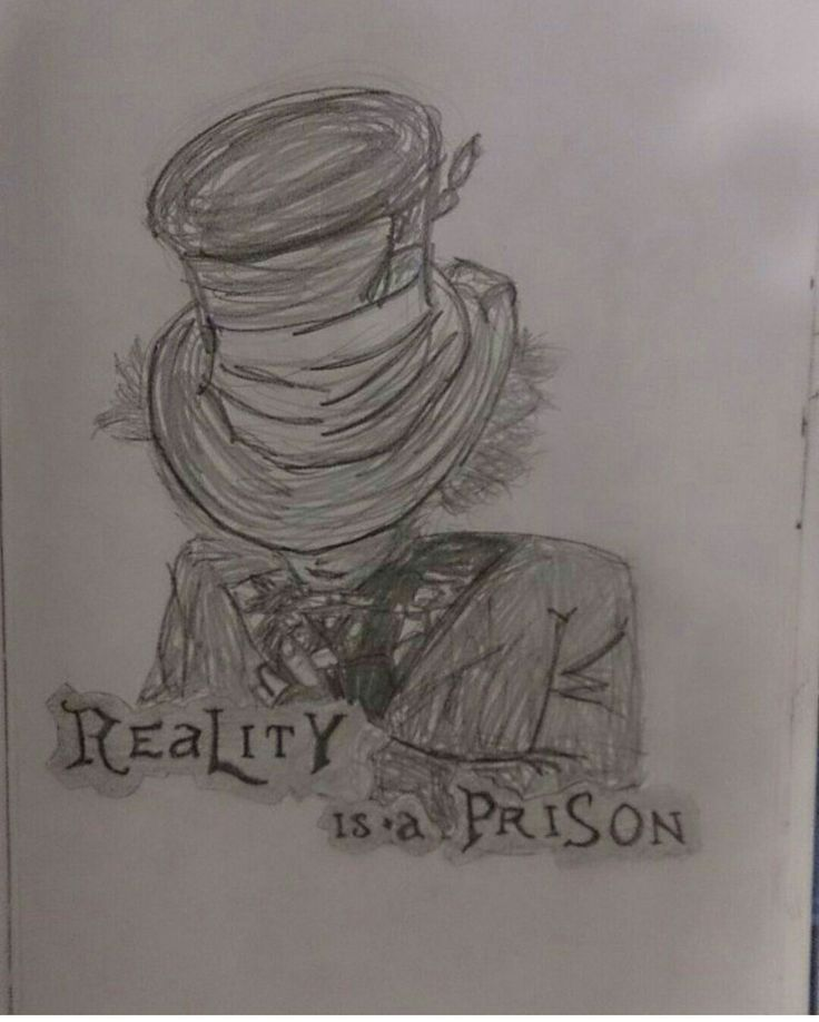 Reality is a prison | Alice in Wonderland | drawing | art