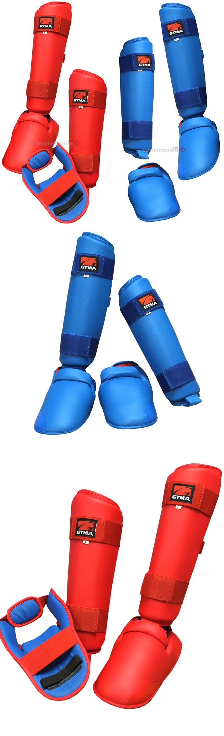 Shin Guards 179782: New Karate,Mma,Muay Thai Shin Instep Protector Leg Foot Guard Sparring Gear -> BUY IT NOW ONLY: $35.99 on eBay!