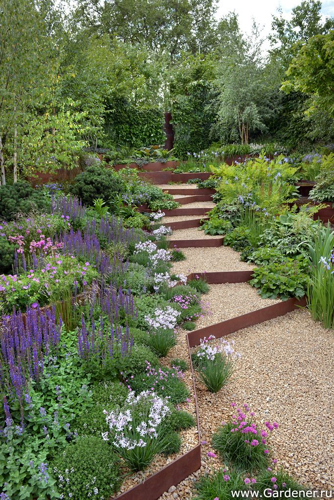 17 best ideas about garden levels on pinterest decking for Low maintenance sloping garden ideas