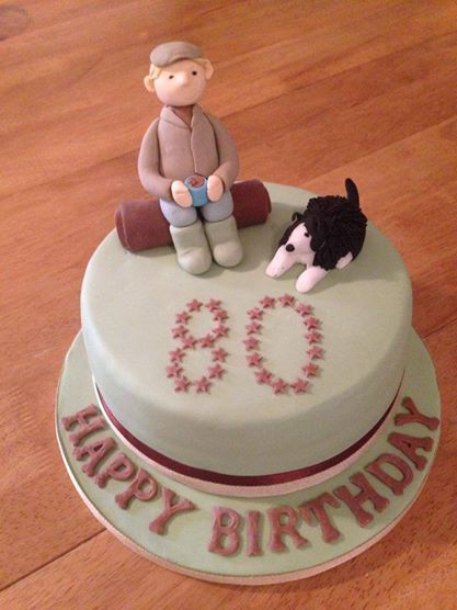 80th Birthday Cake Farmer Cake Cakes
