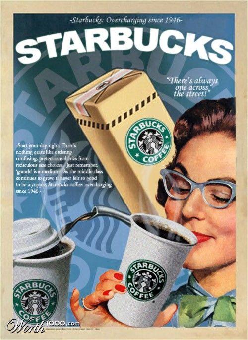 Starbucks Vintage Ads 4 - Worth1000 Contests