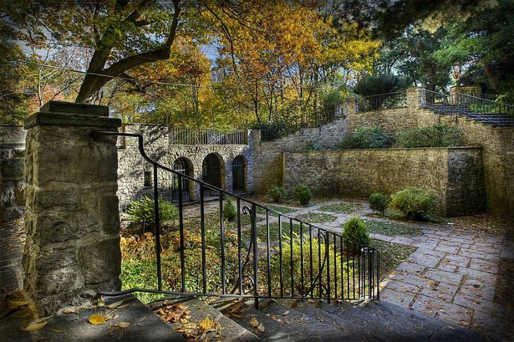 The sunken garden at Warner Castle, Rochester, NY (photo by Don Menges)