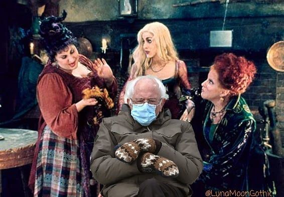 The Sanderson Sisters It S Just A Bunch Of Bernie Pocus Berniesanders Berniesanders Berniesandersmemes Berniesitseve In 2021 Halloween Funny Meme Lord Concert