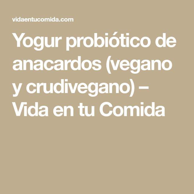 Yogur probiótico de anacardos (vegano y crudivegano) – Vida en tu Comida