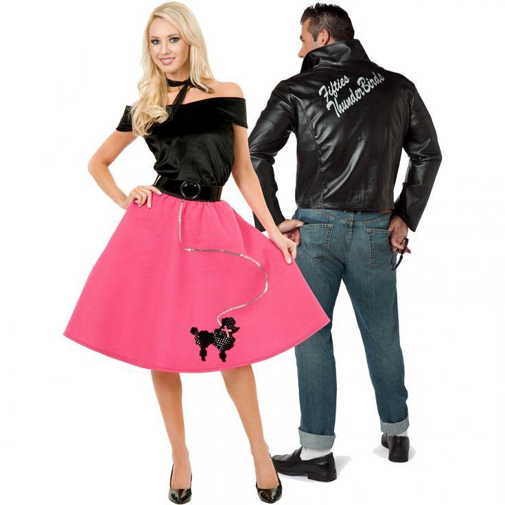 sock hop and thunderbird jacket costume - Teen Couples Halloween Costumes