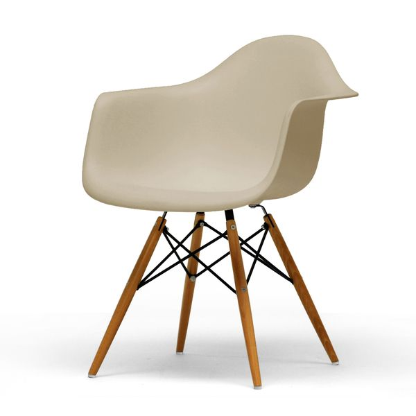 Baxton Studio Retro Classic White Accent Chairs Set Of 2 Grey Color Plastic LivingLiving Room