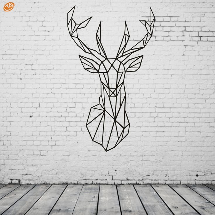Black Friday AYA DIY Wall Stickers Wall Decals, Geometric Deer Head  Wall Sticker Type PVC Wall Stickers M42*70cm /L56*94cm