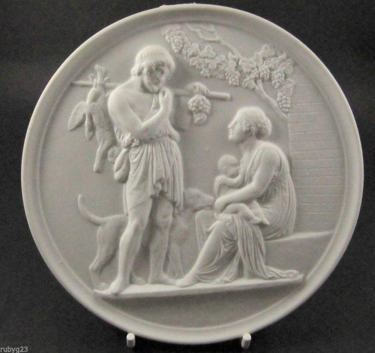 Bing & Grondahl Parian ware Thorvaldsen Four Season of Life plaque Autumn