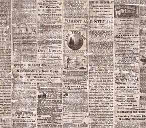 Kitchen Wallpaper Old Newspaper Design