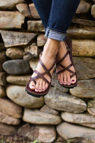 "Sole Hope ""Nyabo"" Sandal - brown - 38 - fair trade - made in uganda"