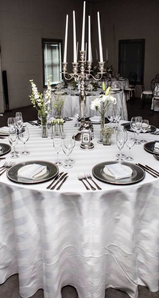 Beautiful all white table setting