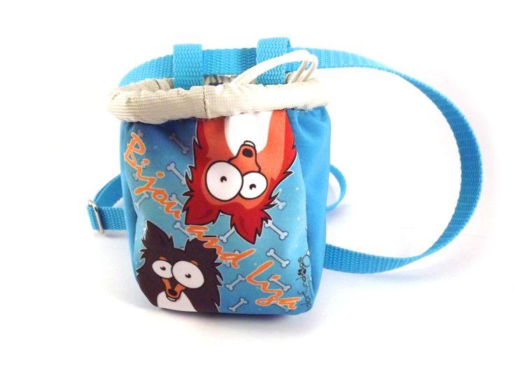 ColorFunDogs dog treat bag with sheltie graphics. #sheltie #colorfundogs #treatbag