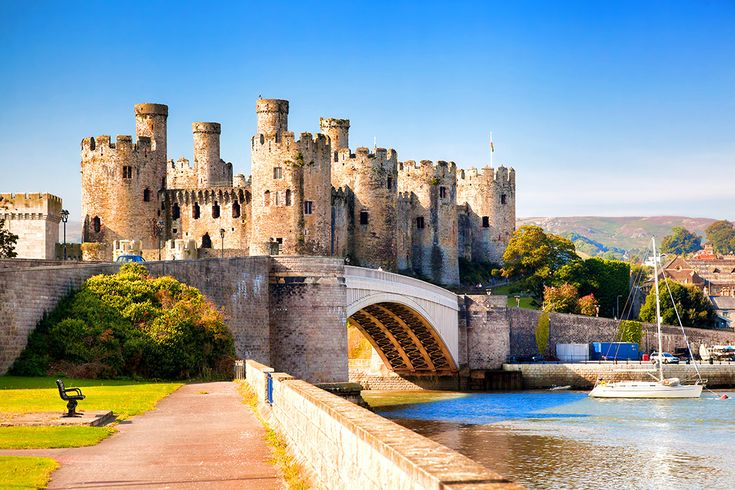 Slottet Conwy Castle i Wales #conwy #castle #conwycastle #wales #slott