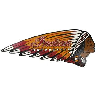 Open Road Brands Indian Motorcycle Embossed Die Cut Tin Sign | Shop Hobby Lobby