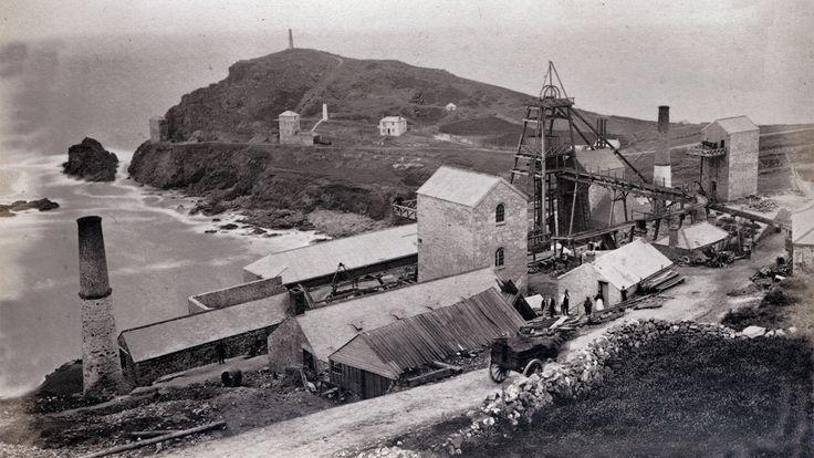 Robert Preston, St Just United Mine, Bailey's Shaft, c.1880s     ✫ღ⊰n
