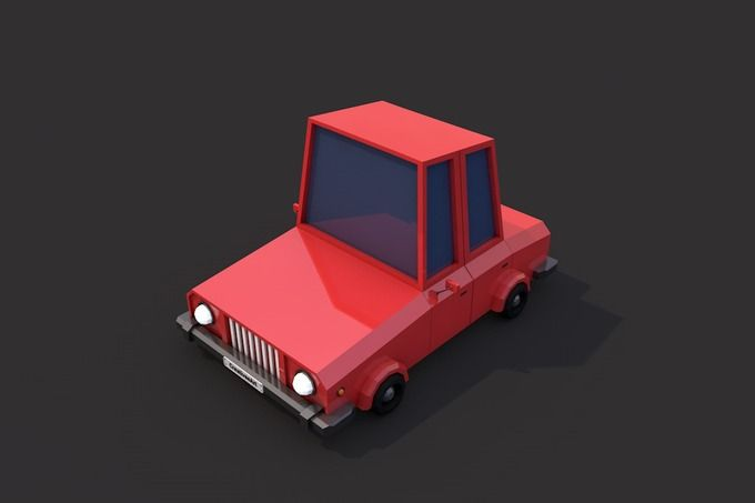 Low Poly Family Car by CreativeeArt on @creativemarket