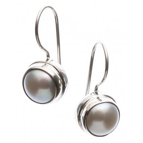 Single white pearl earrings,elegant....$45