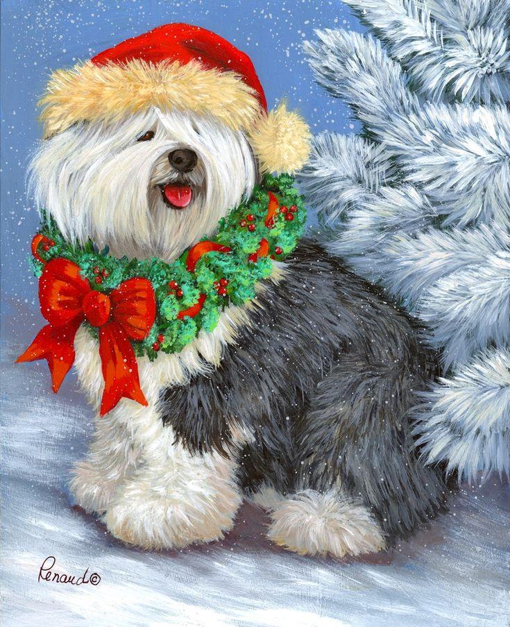 Открытки с собаками на новый год, юбилей