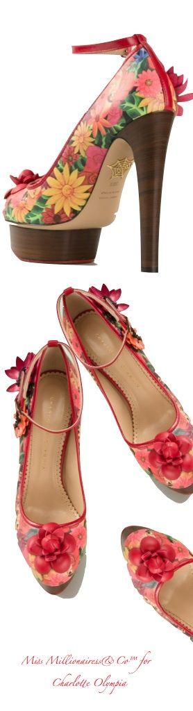 Charlotte Olympia 2015 Floral Platform Pumps   shoes 1