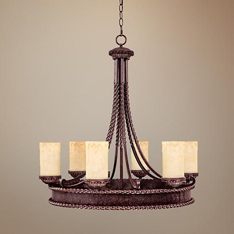 highlands collection 30 high round chandelier tic love this rustic look