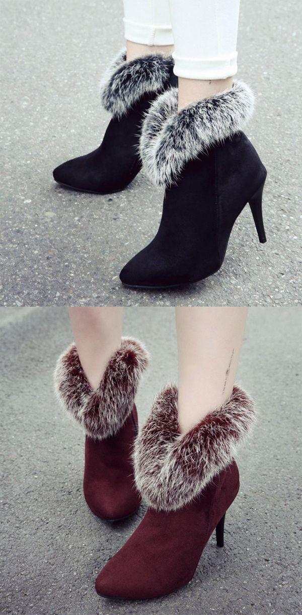 #boots Material:Suede|Heel Height:9cm