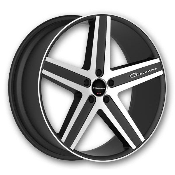 Giovanna Wheels Dramadio-RL 20 Black Machine High Offset - Wheels Only - Staggered