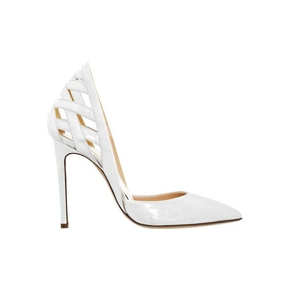 Alejandro Ingelmo Athena (€265) ❤ liked on Polyvore featuring shoes, pumps, heels, sapatos, scarpe, ice patent, d orsay pumps, d'orsay shoes, pointy toe shoes and d orsay shoes