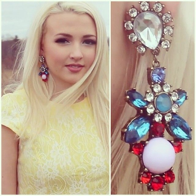 How beautiful does @hayleyistcb look in our earrings? Check out her #YouTube channel if you aren't already subscribed! #ootd #earrings #jewellery