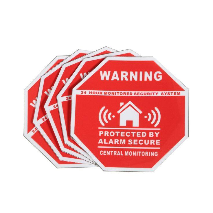 5 Pcs Rumah Rumah Alarm Keamanan Stiker/Decals Tanda-tanda untuk Jendela & Pintu Baru