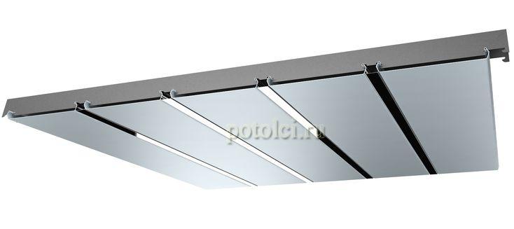 Алюминиевый реечный подвесной потолок фирмы БАРД ППР - ППР 149