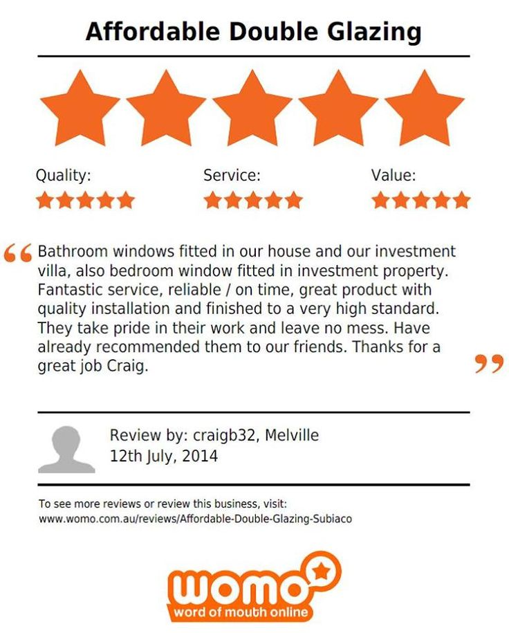 Another great testimonial. Why don't you be our next one? Call for your FREE quote 1800 822 207 #Perth #DoubleGlazing