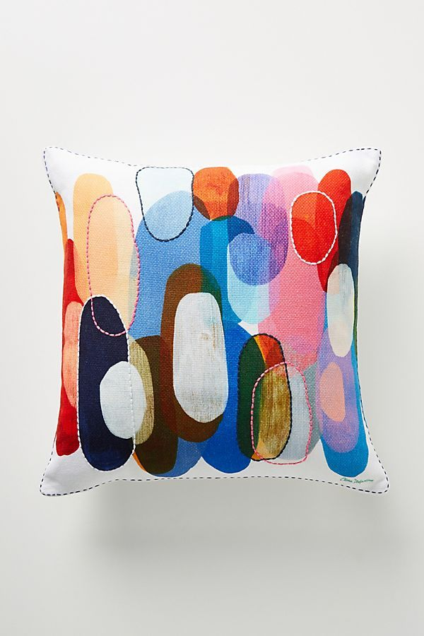 Claire Desjardins Kaleidoscope Pillow In 2020 Funky Pillows Claire Desjardins Printed Pillow