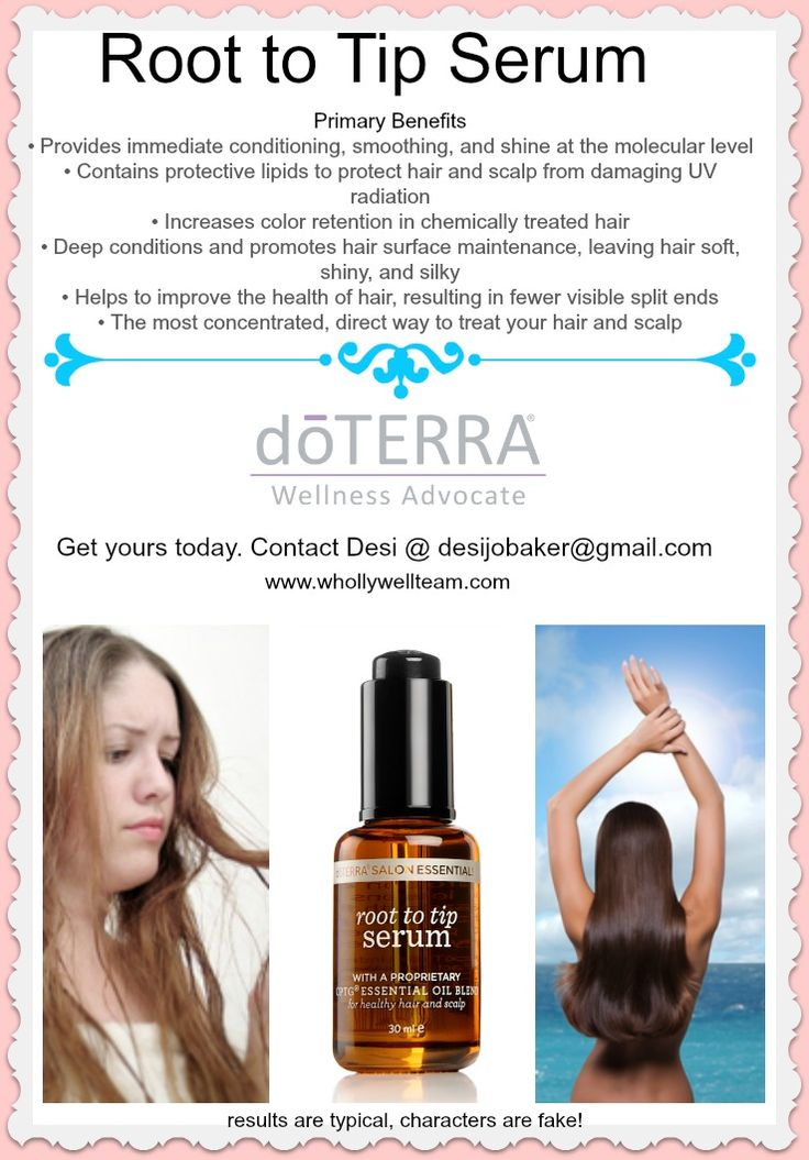 Have your best hair day ;) using doterra's root to tip ...