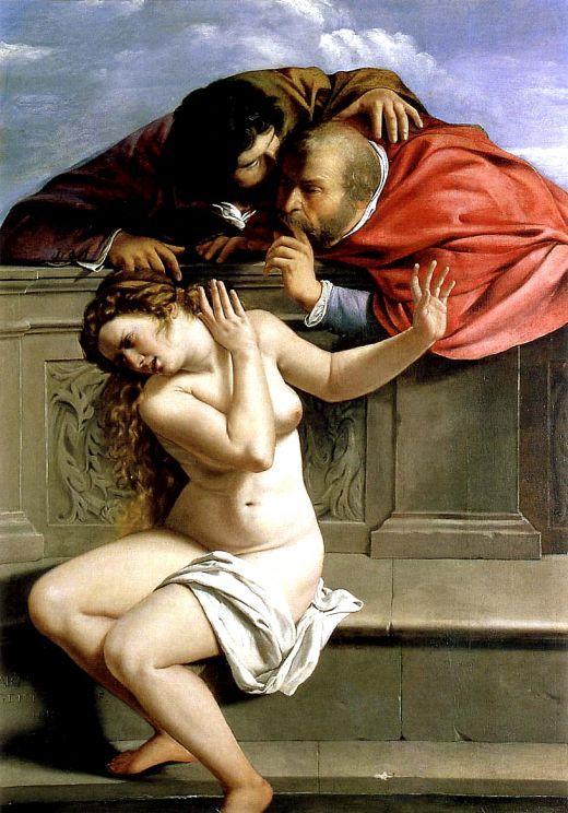 "Artemisia Gentileschi (Italiana, 1593-1656) ""Susanna e i Vecchioni"" Graf von Schönborn Kunstsammlung, Pommersfelden"
