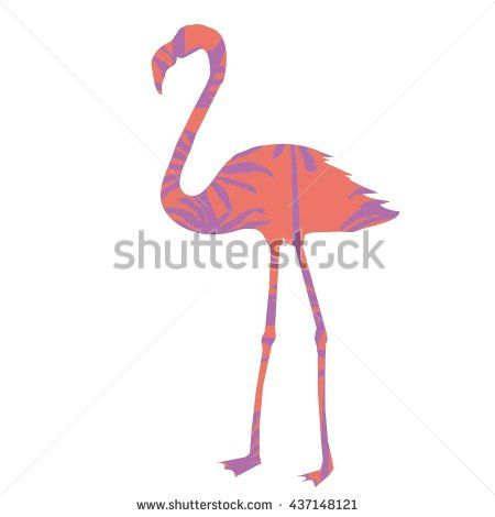 силуэт Фламинго-векторные иллюстрации  - фондовый вектор