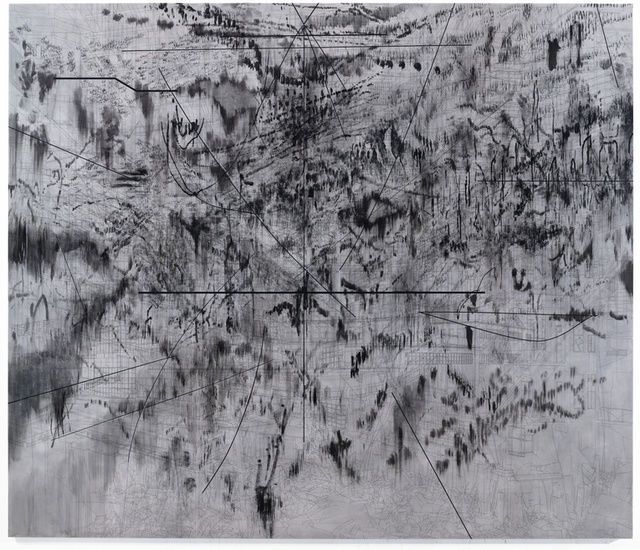 The Mathematics of Droves, 2014, by Julie Mehretu
