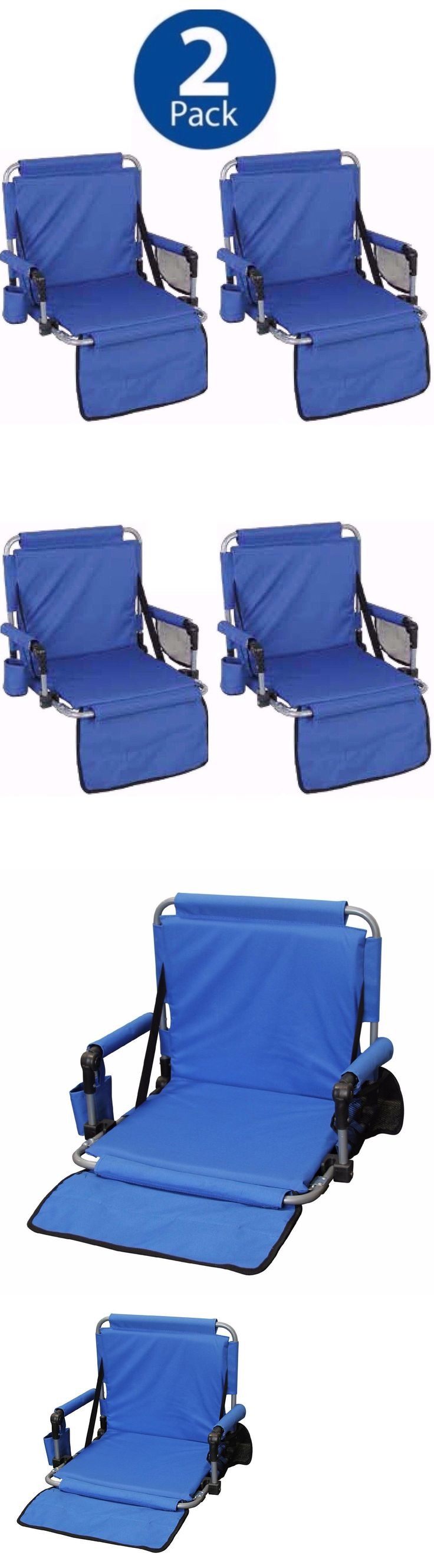 Other Outdoor Sports 2 Portable Folding Stadium Chairs Set