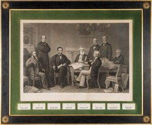 In an auction which realized double its expectations, a display of photos and scarce autographs from Abraham Lincoln and John Wilkes Booth sold for $30,000.