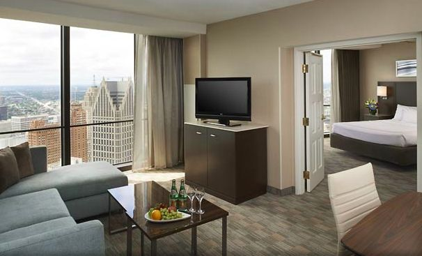 A city view suite, post #30M renovation.  Big changes have come our way here in the Motor City.  #detroitmarriott