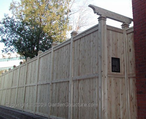 27 best images about wooden fence ideas on pinterest for High privacy fence ideas