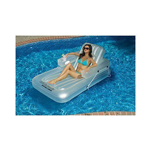 Swimming Pool Sea Inflatable Lounger Tanning Seat Floating Chair Summer Relax  #Swimline