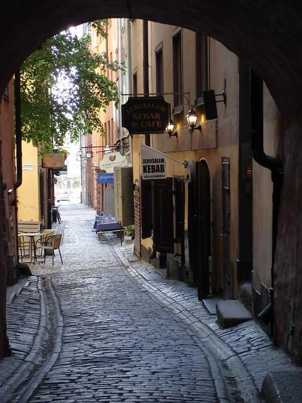 The Old City, Stockholm.  Fantastic shops and restaurants!