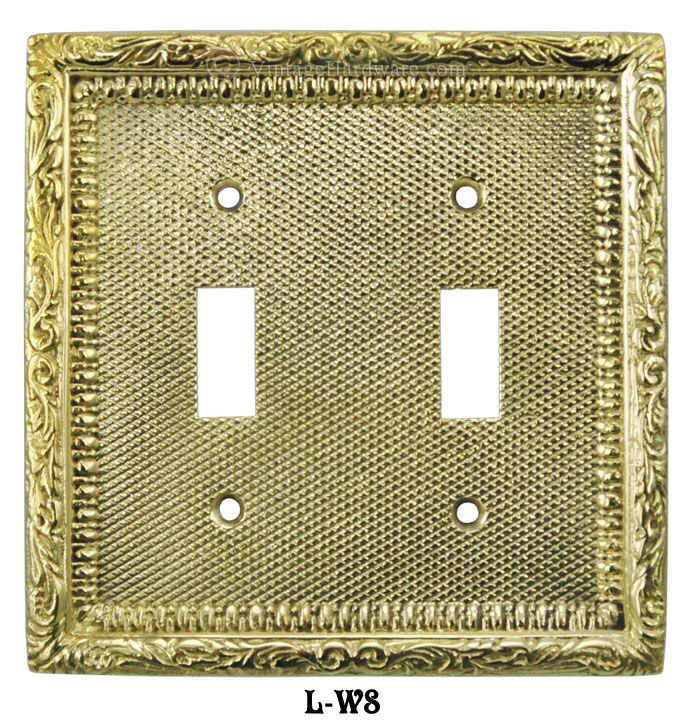 Vintage Hardware & Lighting - Victorian Decorative Double Toggle Light Switch Plate Cover (L-W8)