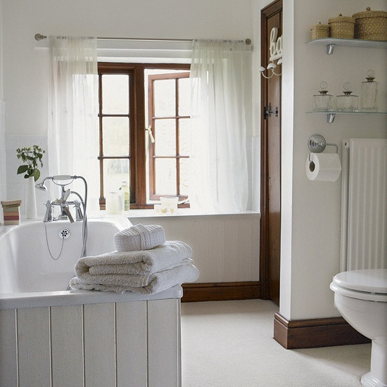 Light and fresh bathroom Simple cream tongue and groove contrasts  beautifully with the dark wood skirting. 22 best Bathroom Ideas images on Pinterest   Bathroom ideas  1920s