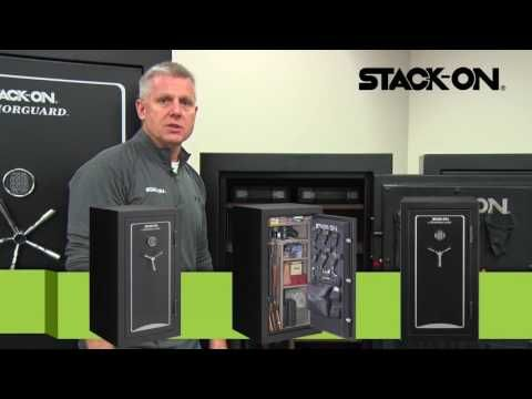 Stack On Gun Safe Woodland Gun Safe Series. Stack-On is well-known among Gun Owners for their Quality and Affordable Gun Safe. Stack-On Biometric Gun Safe   Stack-On Armorguard gun safe - Stack-On Total Defense gun safe - Stack-On Tactical Security gun safe - Stack-On Executive gun safe -  Stack-On Elite gun safe - Stack-On Woodland gun safe - Stack-On Hunter Green gun safe